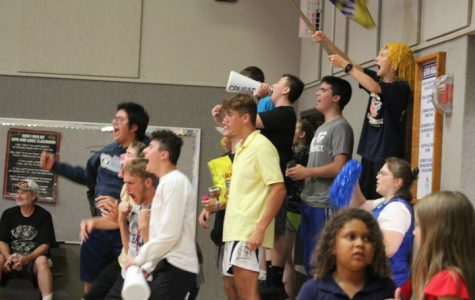 The fans go wild as the Crusaders scored the final point.