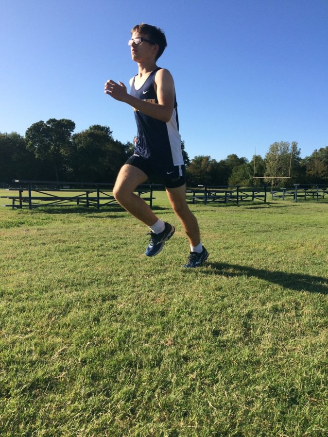 Clark excels past the finish line at practice.