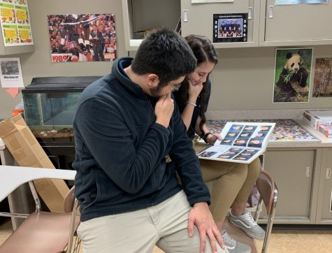 Senior Brena Brown and Drexel King reflect on their time at Immanuel by looking through old yearbooks.